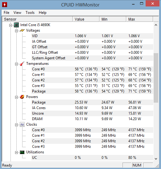 i5-4690k idling at ~55C with water cooling   Tom's Hardware